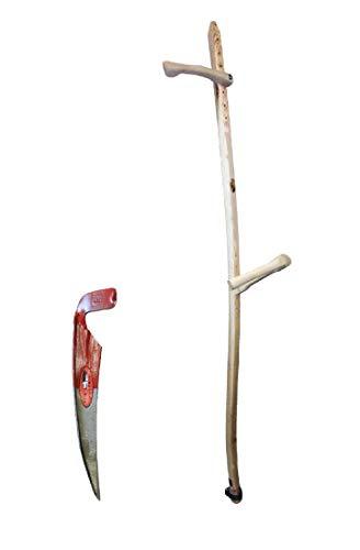 Holzwurf mit Wildwuchssense mit 50 cm langen Blatt von Schröckenfux
