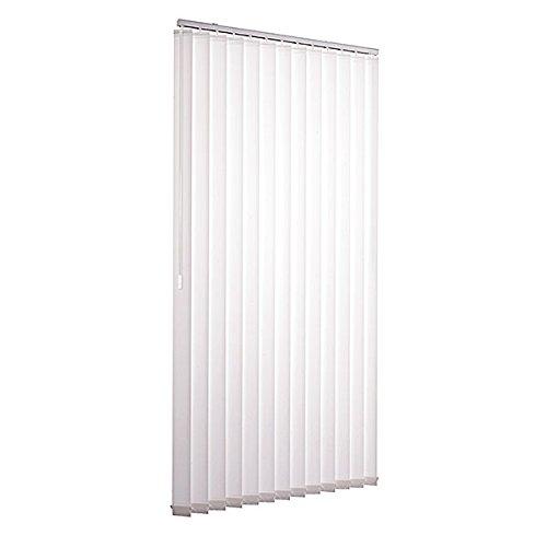 Lamellenvorhang in Weiß aus Polyester 150 x 250 cm von Ventanara