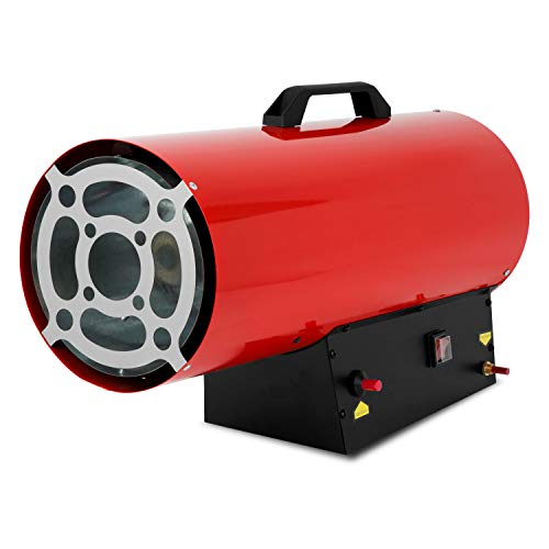 Gasheizgebläse mit 50 kW Leistung und Schlauch für Gas, sowie Druckregler von Eberth