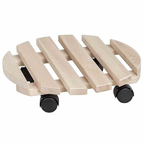 Rolluntersetzer aus Holz mit einem Durchmesser von 35 cm für bis zu 100 kg von Siena Garden