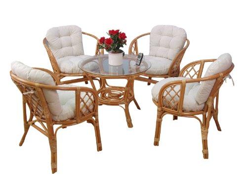 Honigfarbene 9- tlg. Sitzgruppe aus Rattan von moebel direkt online