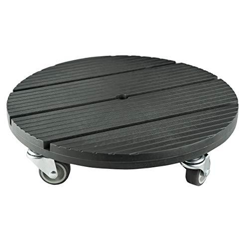 Runder witterungsbeständiger Rolluntersetzer Durchmesser 30 cm für max. 80 kg aus WPC von HRB
