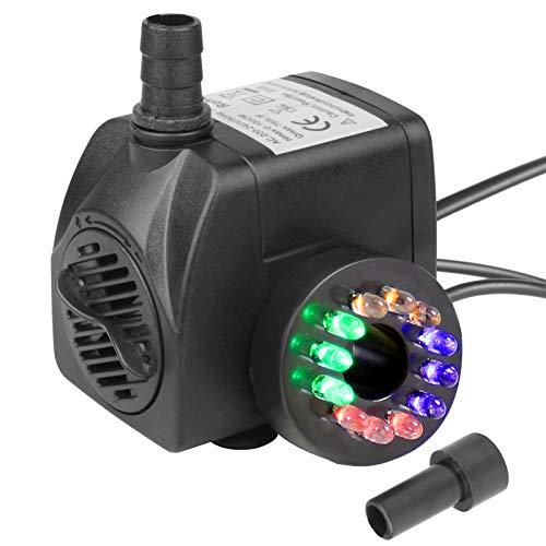 TSS 15 W Unterwasser Springbrunnenpumpe Wasserspielpumpe mit LED Beleuchtung
