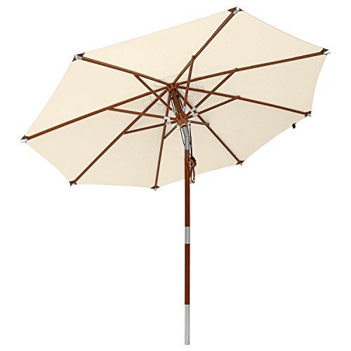 Sonnenschirm mit Dreh- und Kippfunktion in Natural von anndora