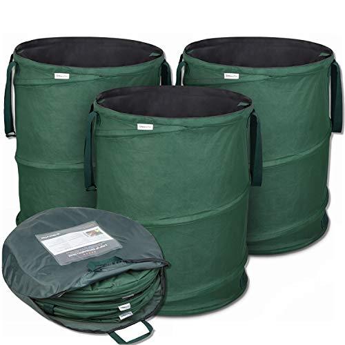 Set mit 3 Pop-up Laubsäcken mit je 170 Liter Volumen aus Oxford Polyester 600D von Glorytec