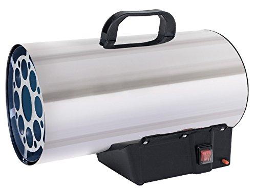 Gasheizgebläse mit 16 kW mit Gasschlauch, sowie Druckminderer