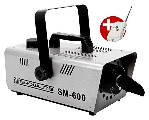 Schneemaschine mit 600 Watt Leistung und einer Fernbedienung, sowie Hängebügel Füllmenge 1 l von Showlite