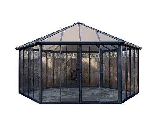 Wintergarten-Pavillon in Grau mit 6 Türen von Palram