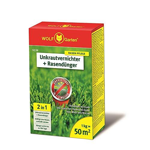 Unkrautvernichter Art. 3840710 SQ 50 inkl. Dünger für Rasen von Wolf Garten