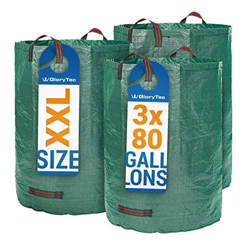 3 Laubsäcke aus PP mit 300 l Füllmenge von Glorytec