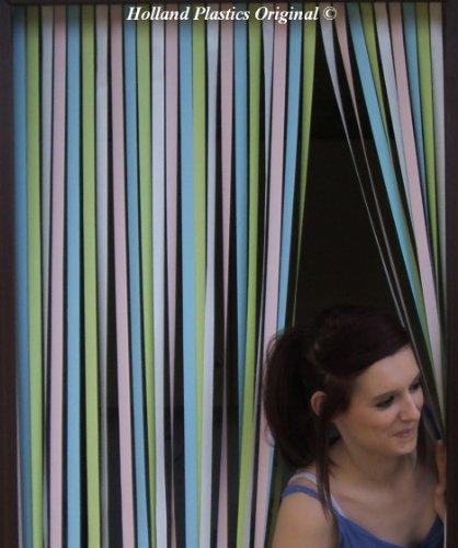 62 cm breiter Türvorhang für Wohnwagen in mehrfarbigen Pastelltönen von Holland Plastics Original Brand