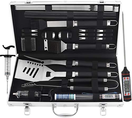 grilljoy Premium Grillbesteck Set mit Koffer (25tlg.)