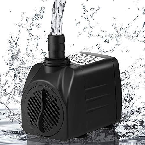 Cadrim Wasserpumpe Wasserspielpumpe 25 Watt 1200l/h Sprinbrunnenpumpe