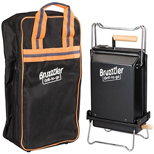 Bruzzzler Klappgrill für perfektes Transportieren mit der hitzebeständigen Tasche