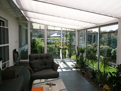Bausatz für Sonnensegel in Weiß Maße 4,2 x 1,4 Meter von Floracord