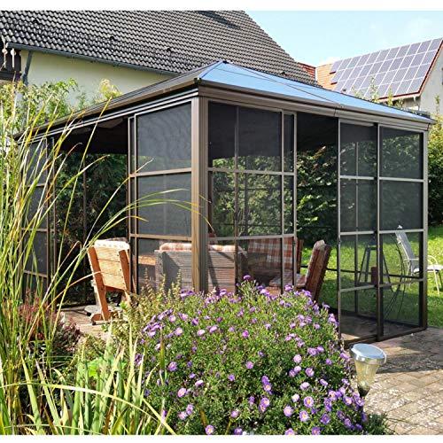 Wintergarten aus Aluminium mit Hard-Top Dach Maße 4,27 x 3,62 Meter von Sojag