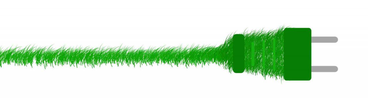 Umweltbewusst durch grönen Strom für die Gartenfräse