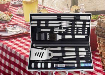 Grillkoffer Vergleich (Top 5) | BBQ Grillbesteck Set im Koffer