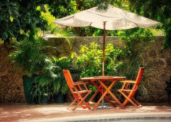 Sonnenschirm einbetonieren | Sonnenschirmständer in Beton gießen